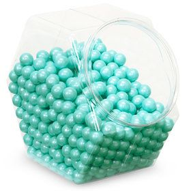 Shimmer Turquoise Sixlets Candy