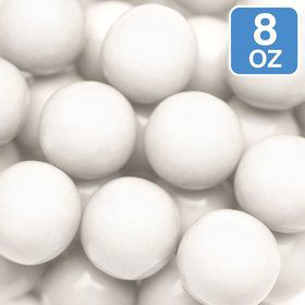 Shimmer White Gumballs 8oz (Each)