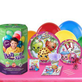 Shopkins 16 Guest Kit with Tableware and Helium Kit