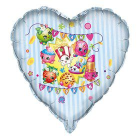 "Shopkins 28"" Giant Heart Shape Foil Balloon"