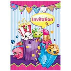 Shopkins Invitations (8 Count)
