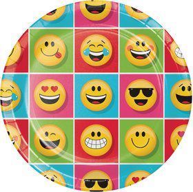 "Show Your Emojions 9"" Dinner Plates (8)"