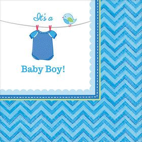 Shower With Love Baby Boy Beverage Napkin (16 Count)