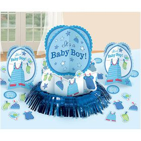 Shower With Love Baby Boy Table Decorating Kit (Each)