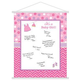 Shower With Love Baby Girl Sign-In (Each)