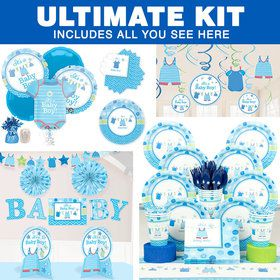 Shower With Love Boy Baby Shower Ultimate Tableware Kit (Serves 8)