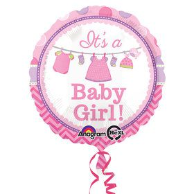 "Shower with Love Girl 17"" Balloon (Each)"