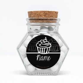 "Signature Birthday Personalized 3"" Glass Hexagon Jars (Set of 12)"