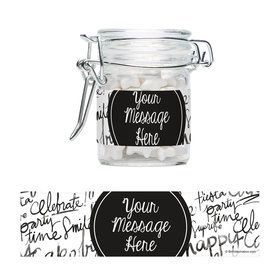 Signature Birthday Personalized Glass Apothecary Jars (12 Count)