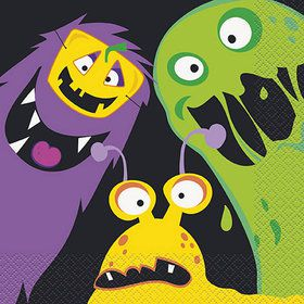Silly Halloween Monsters Lunch Napkins (16)