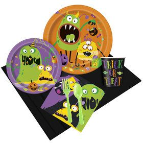 Silly Halloween Monsters Party Pack For 8