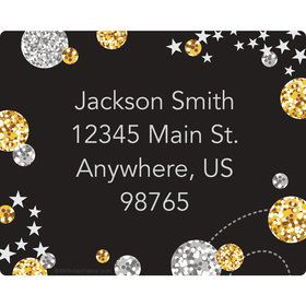 Silver & Gold Personalized Address Labels (Sheet of 15)