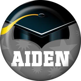Silver Grad Personalized Mini Magnet (Each)
