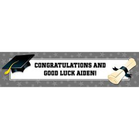 Silver Graduation Personalized Banner (Each)