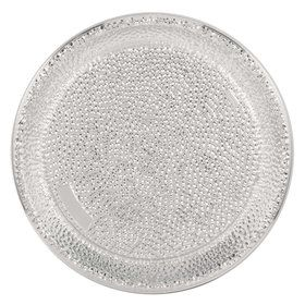 Silver Hammered Plastic Tray