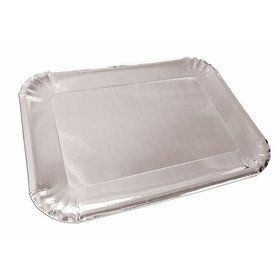 Silver Paper Platters (4)
