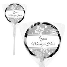 "Silver Snowflake Personalized 2"" Lollipops (20 Pack)"