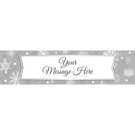 Silver Snowflake Personalized Banner (Each)