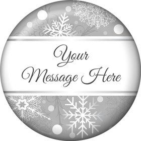 Silver Snowflake Personalized Magnet (Each)