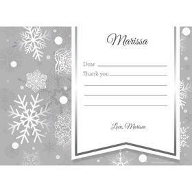 Silver Snowflake Personalized Thank You (Each)