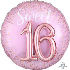 Sixteen Blush 36 Jumbo Shaped Foil Balloon