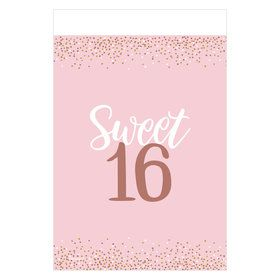Sixteen Blush Plastic Table Cover