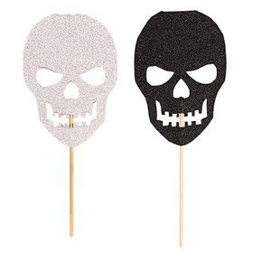 Skull Cupcake Picks 7 pcs
