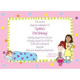Sleepover Personalized Invitation (each)