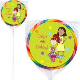 Sleepover Personalized Lollipops (pack of 12)