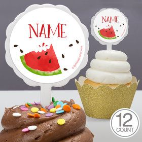 Slice of Summer Personalized Cupcake Picks (12 Count)