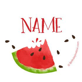 Slice of Summer Personalized Mini Stickers (Sheet of 24)