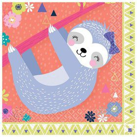 Sloth Celebration Beverage Napkins (16)