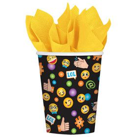 Smiley 9oz Paper Cups (8)