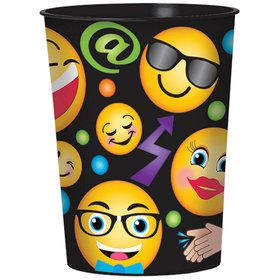 Smiley Plastic 16oz Favor Cup (1)