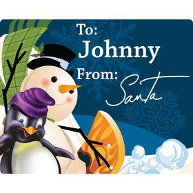 Snow Friends Rectangle Gift Tag (Sheet of 15)