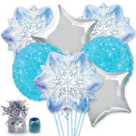 Snowflake Balloon Bouquet Kit