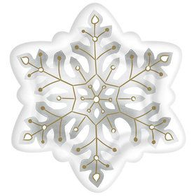 "Snowflake Shaped 10.5"" Plate (8)"