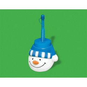 Snowman Cup with Straw (1)