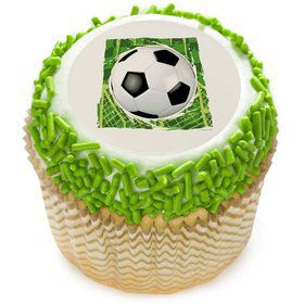 "Soccer 2"" Edible Cupcake Topper (12 Images)"
