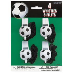 Soccer Ball Whistle Party Favors (4)