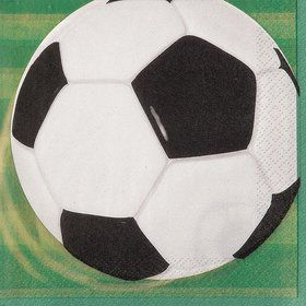 Soccer Beverage Napkins (16 Pack)