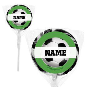 "Soccer Party Personalized 2"" Lollipops (20 Pack)"