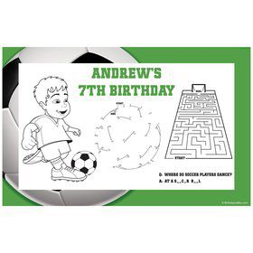 Soccer Party Personalized Activity Mat (8 pack)