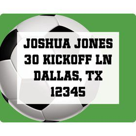 Soccer Party Personalized Address Label