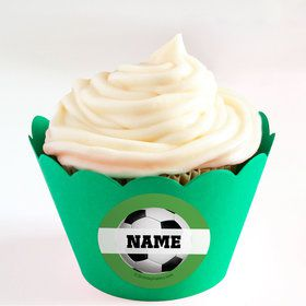 Soccer Party Personalized Cupcake Wrappers (Set of 24)