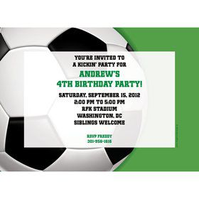 Soccer Party Personalized Invitation (each)