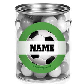 Soccer Party Personalized Mini Paint Cans (12 Count)