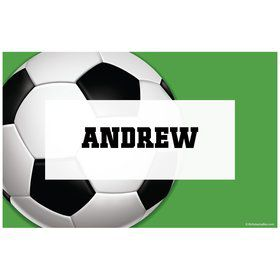 Soccer Party Personalized Placemat (each)