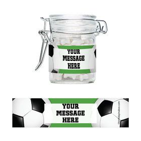 Soccer Party Personalized Swing Top Apothecary Jars (12 ct)
