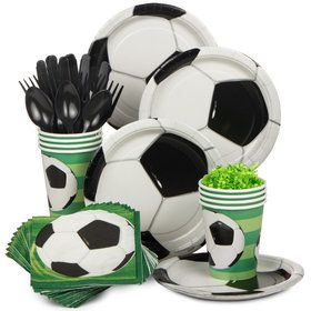 Soccer Birthday Party Standard Tableware Kit (Serves 8)